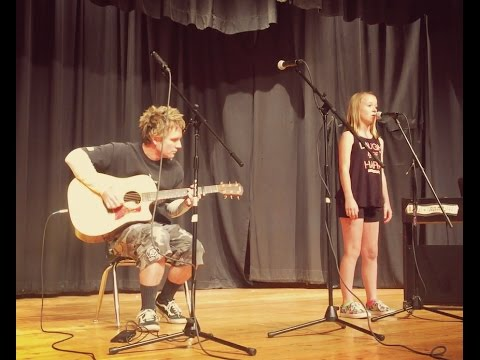 Father daughter performing an acoustic guitar cover of 7 years by Lukas Graham