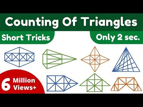 Counting of figures Part-2 (किसी आकृति में त्रिभुज की संख्या पता करना) By Kd. Prasad