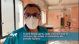 """Scuola Baldassarre, cede intonaco dal solaio. Il preside rassicura: """"Non un danno strutturale"""""""