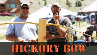 Primitive Hickory Self Bow, how to build a wood long bow or recurve bow