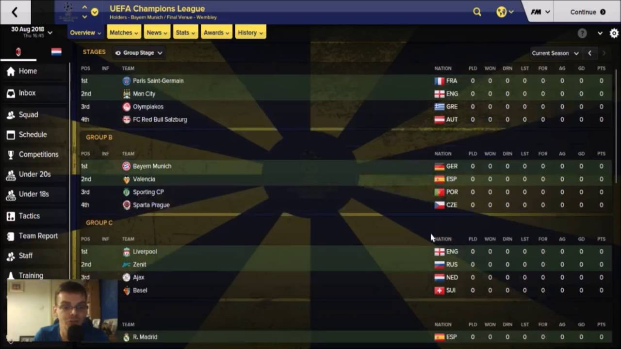The European Adventure - AC Milan   Champions League Draw 2018 -2019  football Manager 2016 ...