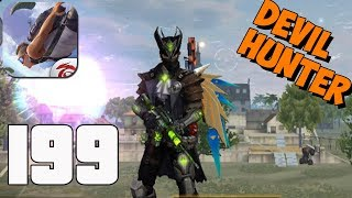 Free Fire - Gameplay part 199 - Devil Hunter Squad Bermuda BOOYAH!(iOS, Android)