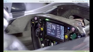 How an F1 Steering Wheel works, with Fernando Alonso