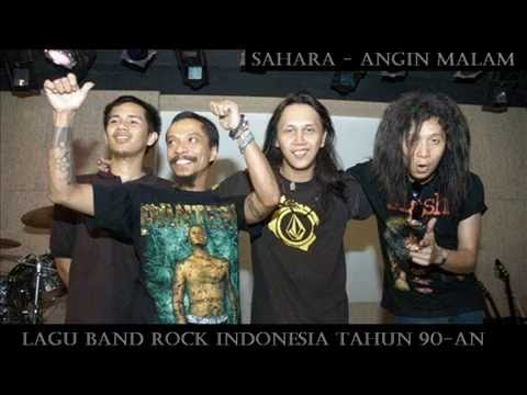 Lagu Band Rock Indonesia Tahun 90-an | SAHARA - Angin Malam