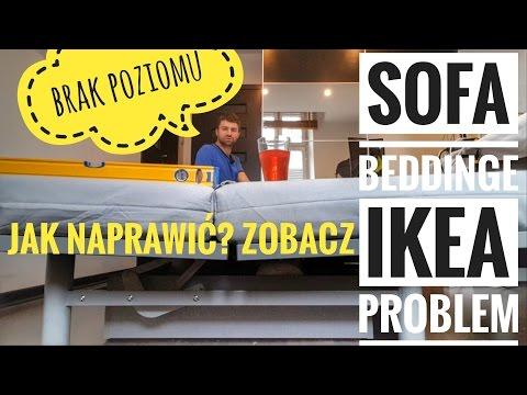 IKEA BEDDINGE Sofa - Jak Naprawić Wadę Fabryczną braku poziomu?