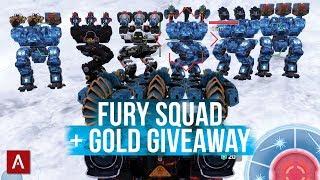 Fury Squad Vs New Meta Robots + GIVEAWAY / War Robots VØX Clan Live Stream