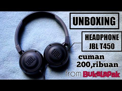 Unboxing Headphone JBL T450 Cuman 200 Ribuan 😱 Dapet Harga Murah Dari Bukalapak