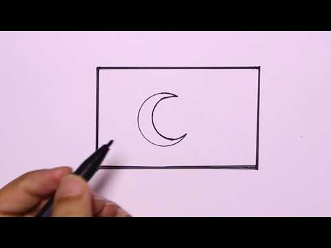 How To Draw Flag Of Turkey - Drawing And Cololring For Kids