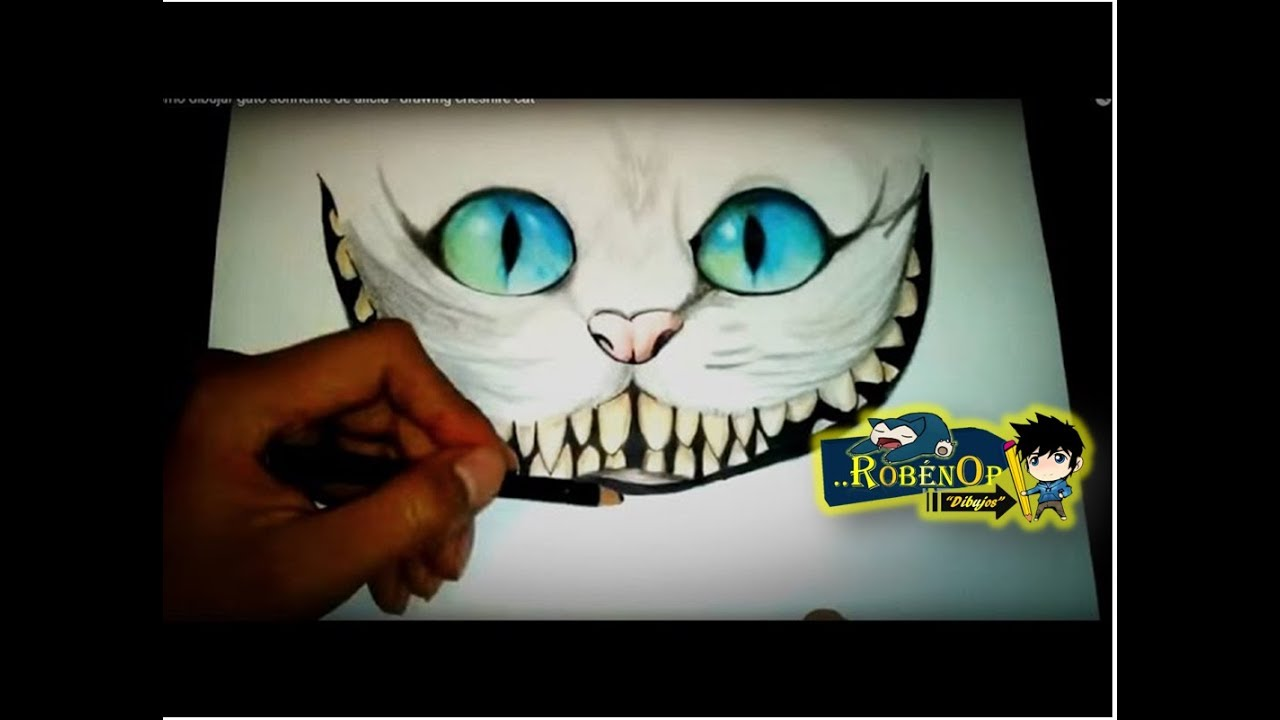 Como dibujar gato sonriente de alicia - drawing cheshire cat - YouTube