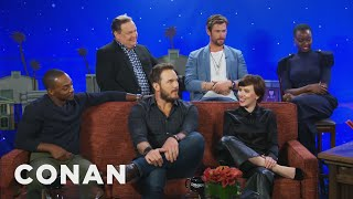 "The ""Avengers: Infinity War"" Cast Spoils The Movie  - CONAN on TBS"