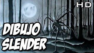 TERRORÍFICO dibujo de Slenderman al carboncillo - Especial Halloween Drawing - TheMaxiArte