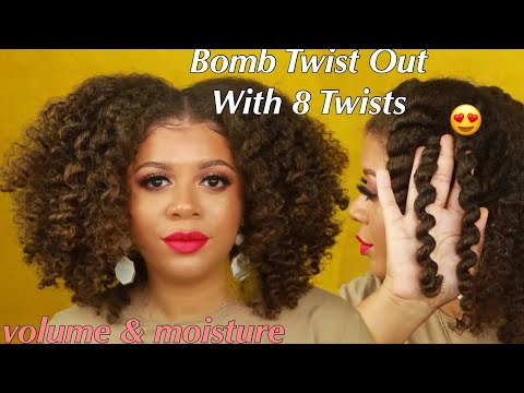 How To Get A Bomb Twist Out With 8 Twists | Natural Hair Styles