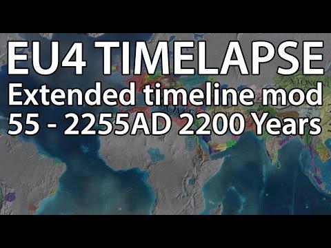 EU4 Timelapse - Extended timeline mod (55 - 2200AD)
