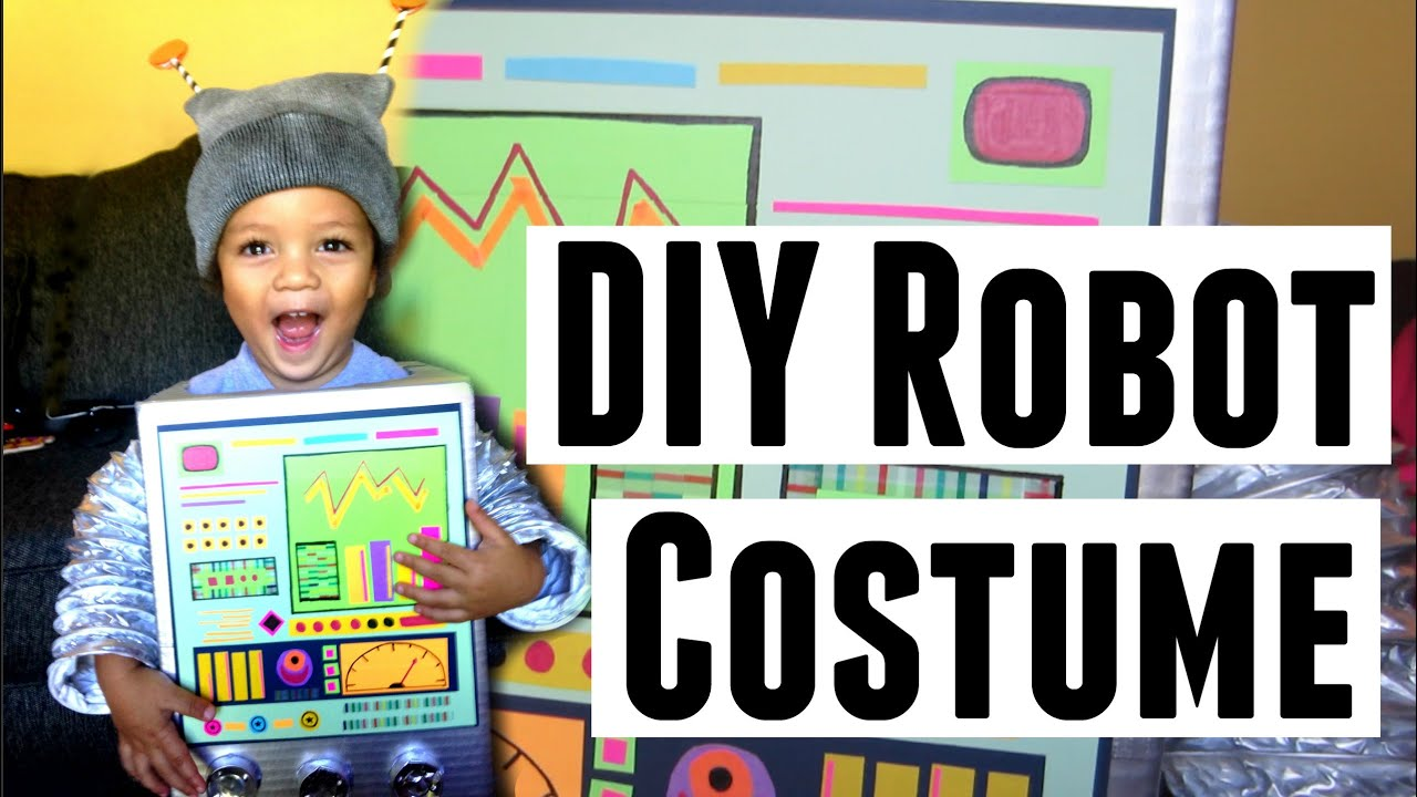 DIY | Retro Robot Costume Idea | Toddler and Kids Halloween Costumes - YouTube  sc 1 st  YouTube & DIY | Retro Robot Costume Idea | Toddler and Kids Halloween Costumes ...