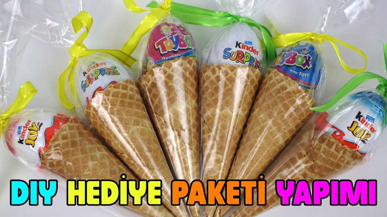 Dondurma Kulahindan Hediye Paketi Yaptim Kinder Supriz Hediye