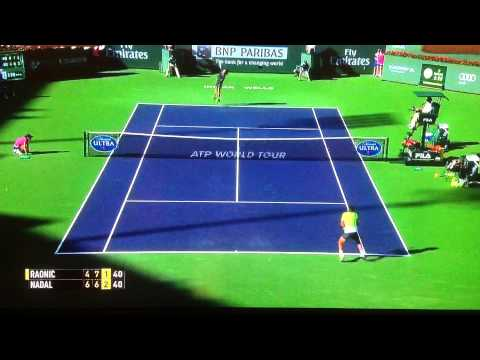 Milos Raonic stuns Rafa Nadal! Indian Wells 2015 Quarter Final