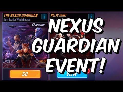 Nexus Guardian Event Hard LIVE! - Scarlet Witch Unlock?! - Marvel Strike Force