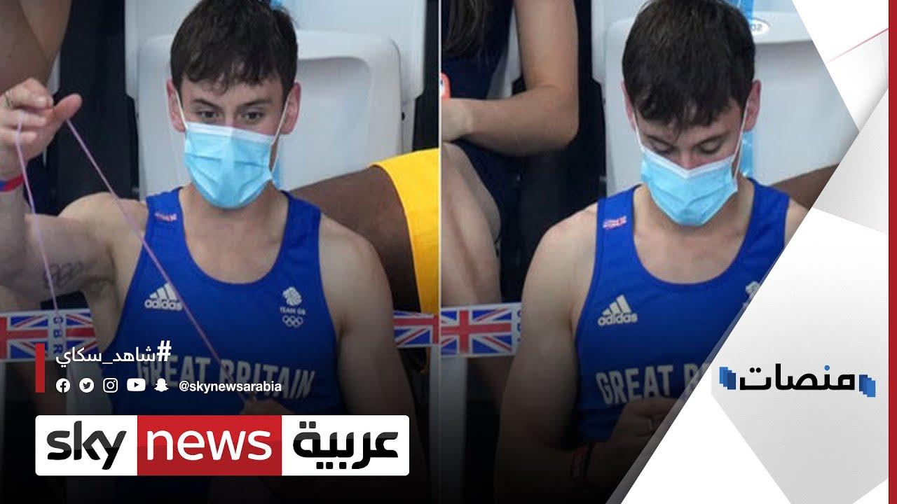 بالفيديو.. بطل أولمبي يحيك الصوف خلال منافسات #الأولمبياد | #منصات  - نشر قبل 24 دقيقة