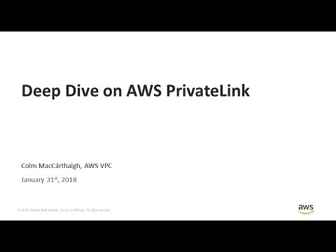Deep Dive on AWS PrivateLink - AWS Online Tech Talks - YouTube
