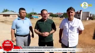 08 08 2016 ALPASLAN MAHALLESİ YOL ÇALIŞMALARI
