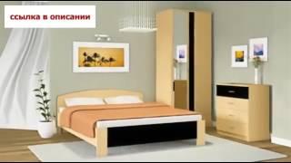 Спальня «Монте» Вишня Милано Дуб Феррара   Столплит Мебель!