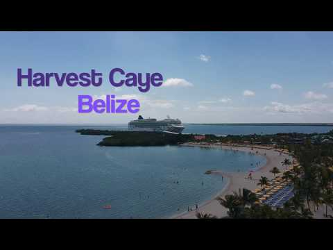 Harvest Caye, Belize Norwegian (NCL) Private Island Aerial Tour with DJI Spark Drone