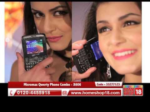 Homeshop18.com - Micromax Qwerty Phone Combo - X606