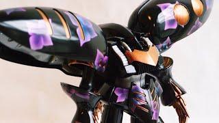 MGキュベレイにエアブラシで紫陽花を描く (QUBELEY HYDRANGEA PAINTING) ガンプラ プラモデル 塗装
