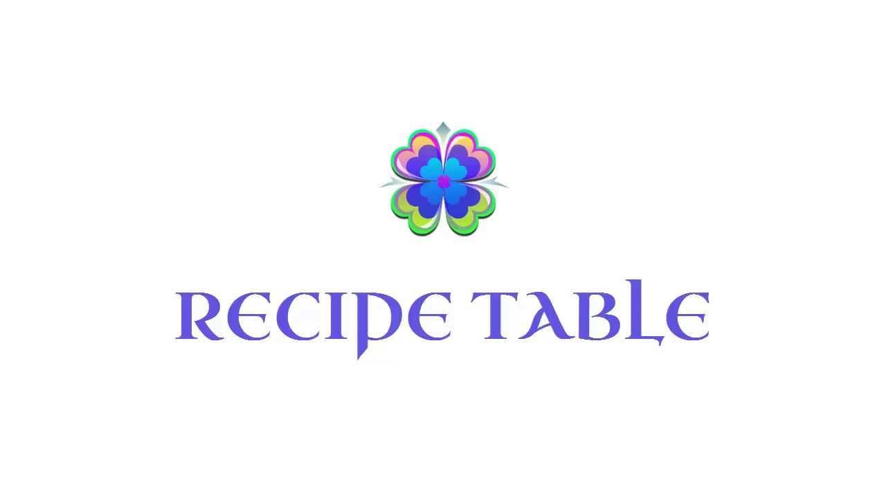 Download Welcome to Recipe Table (రెసిపీ టేబుల్ పరిచయం ) - Telugu Vantalu