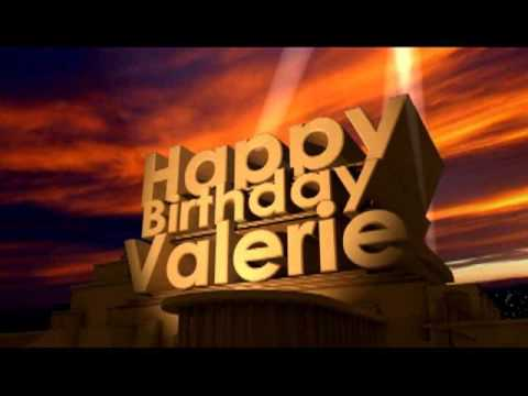 Happy Birthday Valerie Youtube