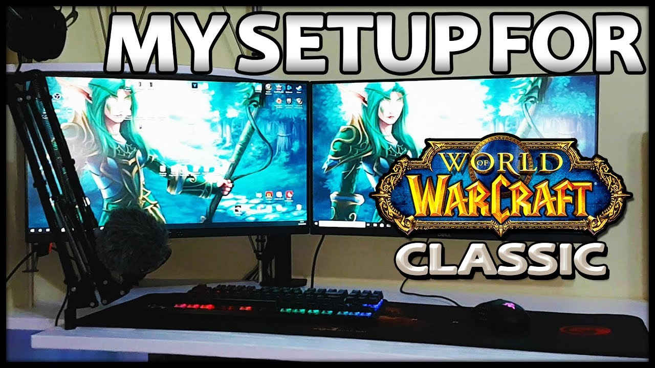 DIY Desktop Setup for Classic WoW, Productivity and Gaming - Makeover
