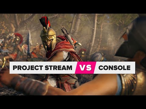 Project Stream compared to a console
