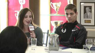 2012 Millrose Games Shannon Rowbury Press Conference