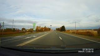 Трасса М8 с реальным звуком. Радары и камеры.Октябрь 2018. Driving in Real Time.