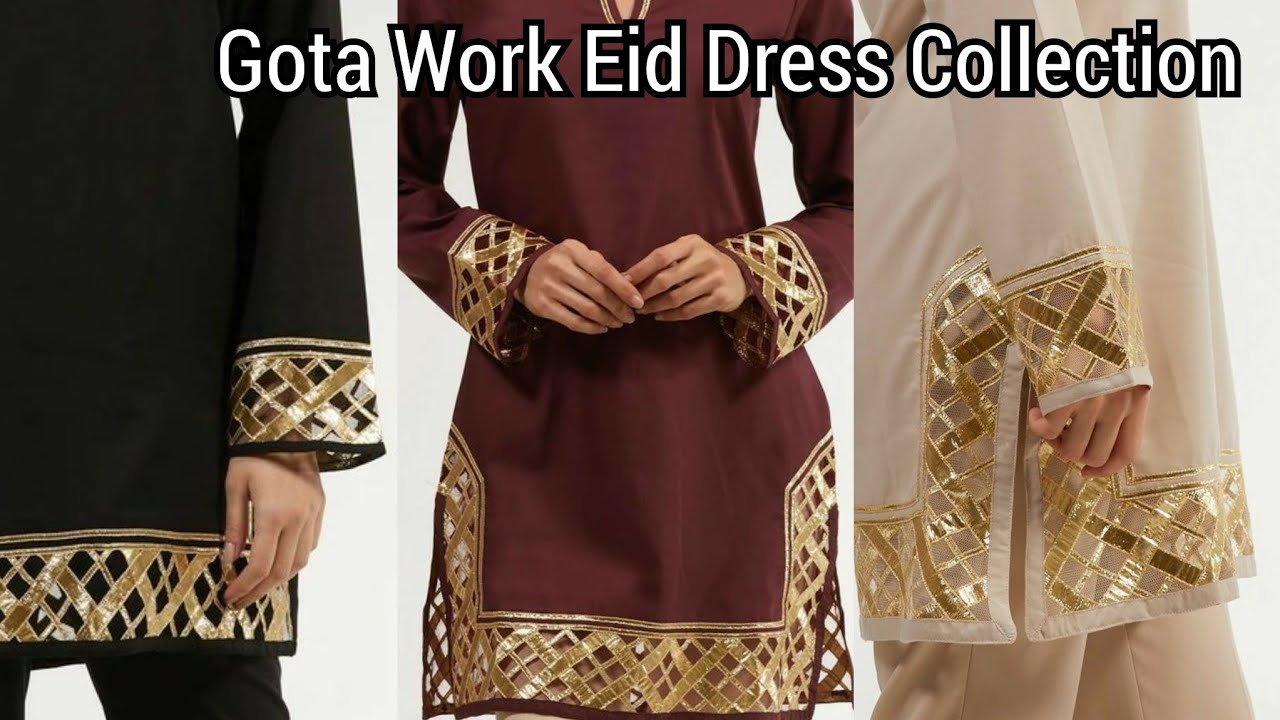 Best And Easy Gota Patti Work Dress Designs//Gota Work Dress Designing Idea's For Eid