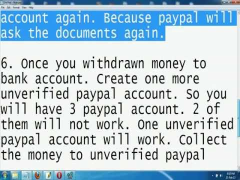How to withdraw money from verified freezed paypal account?
