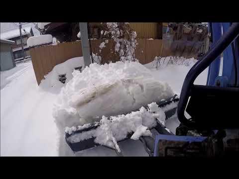 ユンボで除雪GoPro撮影HITACHI EX18 ショベルカー