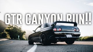 Taking an R32 SKYLINE GTR on a CANYON RUN! *Surprise Mod*