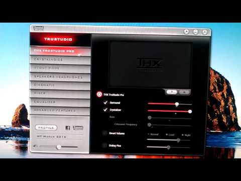 Sound Blaster Control Panel - Recon3D Fatal1ty Champion - YouTube