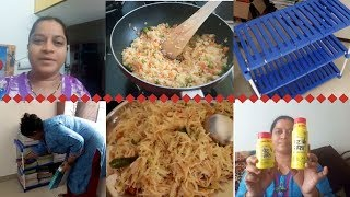 MONDAY MORNING SIMPLE DISHES||PET SAFFA REVIEW||AMAZON SHOPPING||RAMA SWEET HOME