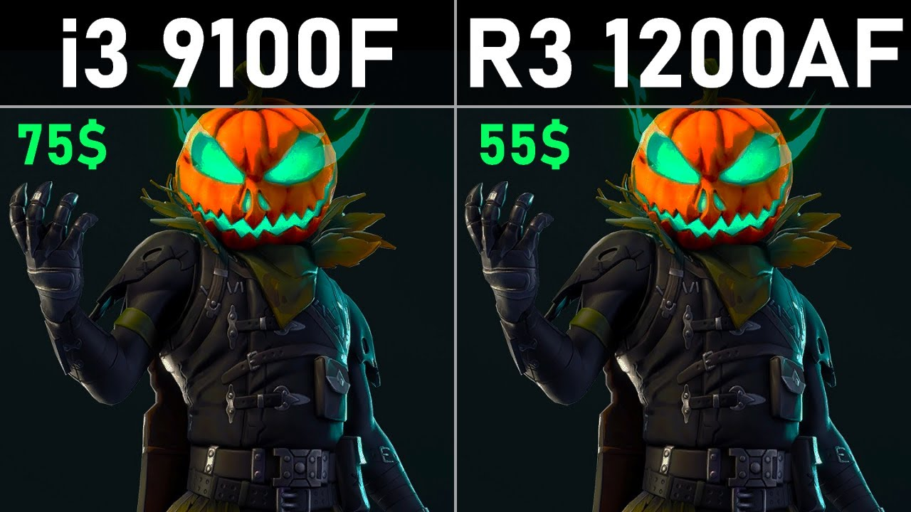 Core i3 9100F vs Ryzen 3 1200 AF Test in 5 Games