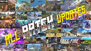 ALL PATCH UPDATES || FREE FIRE ALL OB UPDATES || ALL OB PATCH UPDATES FREE FIRE || TSK BATTLEGROUNDS