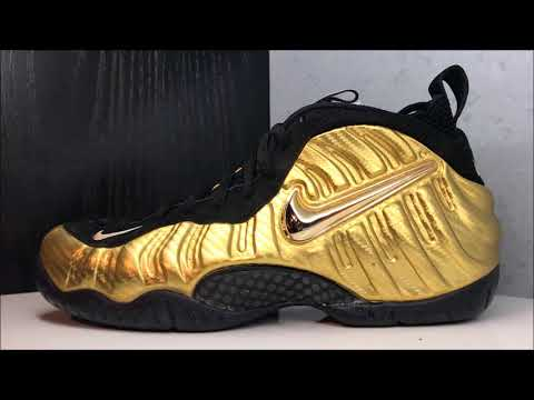 Nike Foamposite Pro Metallic Gold Carbon Fiber Sneaker Review