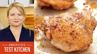 How to Make Oven-Roasted Chi¢ken Thighs and Apple Crumble