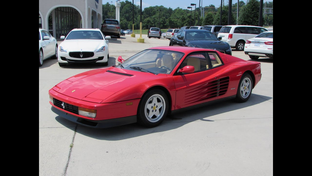 1990 ferrari testarossa start up, exhaust, and in depth review