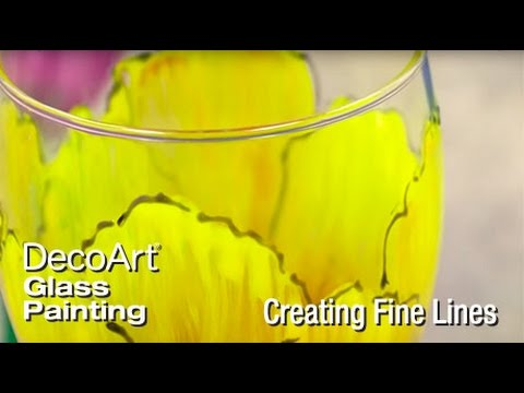 Creating Fine Lines with Glass Paint