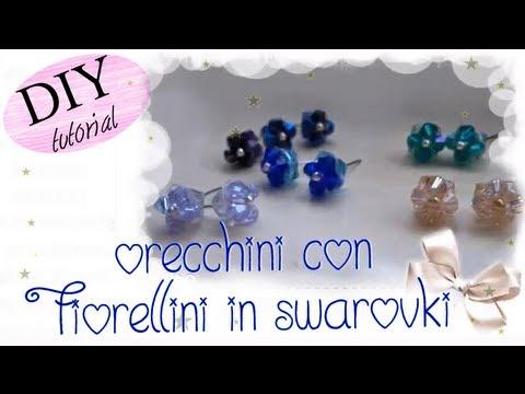 Eccezionale Tutorial: Creare orecchini a perno con fiorellini in swarovski  RU81