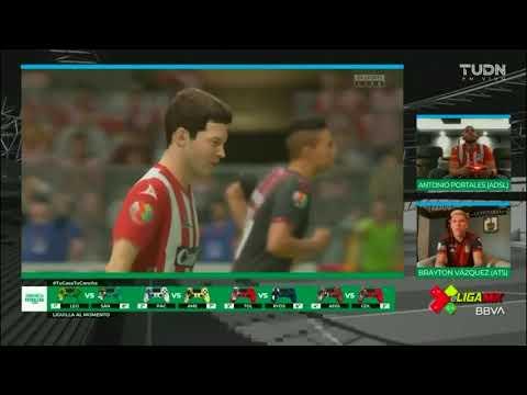 Resumen   Atlético San Luis 4 - 0 Atlas   eLiga MX - Clausura 2020 - Jornada 14   LIGA BBVA MX