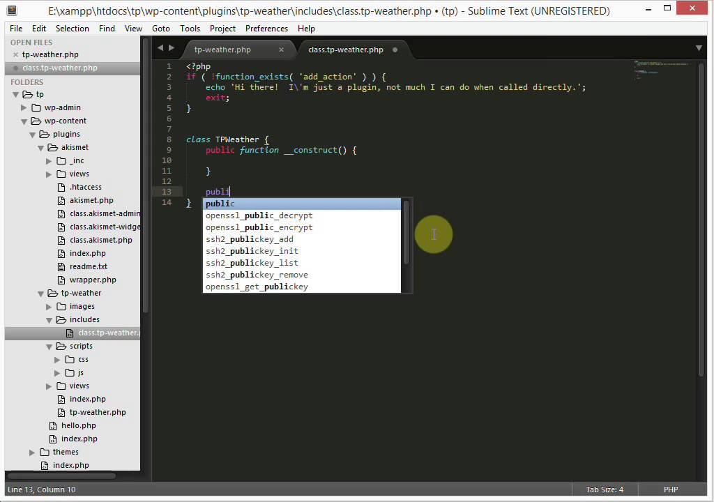 [Lập trình plugin TP Weather] – Phần 2 – Tạo plugin và sơ lược về API