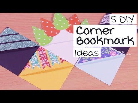 5 DIY Corner Bookmark Ideas | Easy Bookmark designs | Paper Craft
